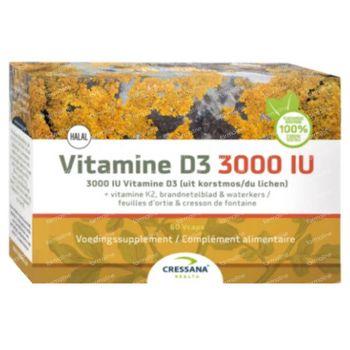 Cressana Vitamine D3 + K2 3000iu 60 capsules