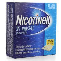 Nicotinell 21mg/24h Pleister voor Transdermaal Gebruik 21 stuks