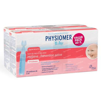 Physiomer Bébé Unidoses DUO 60x5 ml unidosis
