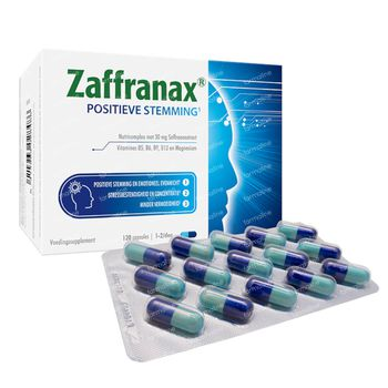 Zaffranax Positieve Stemming - Emotioneel, Stress, Vermoeidheid 120 capsules