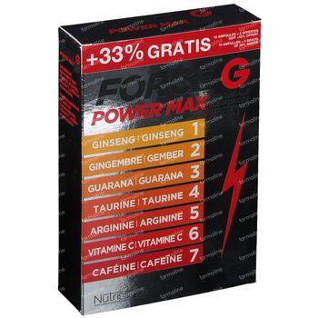 Nutrisanté Force G Power Max Formule Améliorée 15 Ampoules + 5 GRATUIT 15+5 ampoules