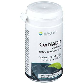 Springfield Cernadin Nicotinamide & D-Ribose 500 mg 60 capsules
