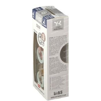 BIBS Sucette Latex Glow in the Dark Vanilla - Blush 6-18 Mois 2 pièces