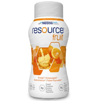 Resource Fruits Orange 4x200 ml