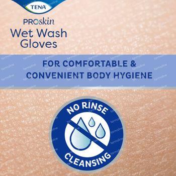 TENA ProSkin Wet Wash Gloves 8 pièces