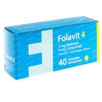 Folavit 4mg Nieuwe Formule 40  tabletten