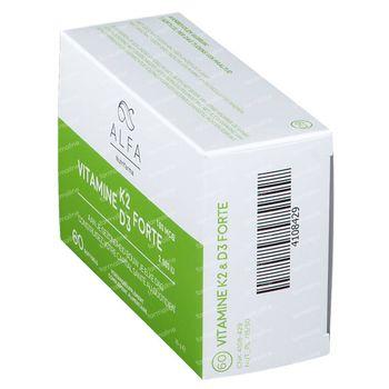 Alfa Vitamine K2 - D3 Forte 60 gélules souples