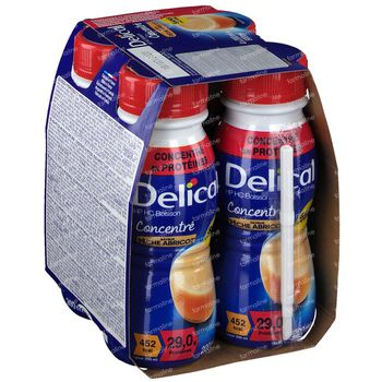 Delical HP HC Drank Geconcentreerde Perzik-Abrikoos 4x200 ml