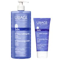 Uriage Baby 1ste Reinigingswater + Wascrème 1  set