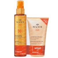 Nuxe Sun Bruiningsolie Gelaat & Lichaam SPF30 + Verfrissende Aftersun Lotion 1  set