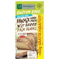 Damhert Gluten Free Bakmix Wit Lactose Free 400 g