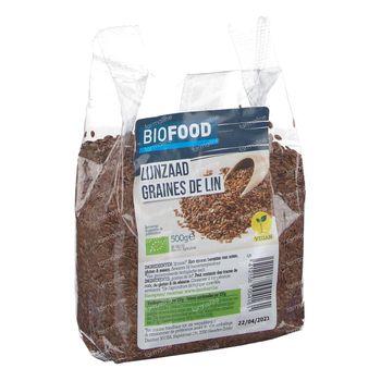 Biofood Graines de Lin BIO 500 g