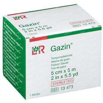 Lohmann & Rauscher Gazin Mèche de Gaze 5mx5m 13473 1 pièce