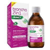 Broncho 2 en 1 Adult Sirop Contre la Toux Goût d'Orange - Toux Sèche, Toux Grasse 120 ml