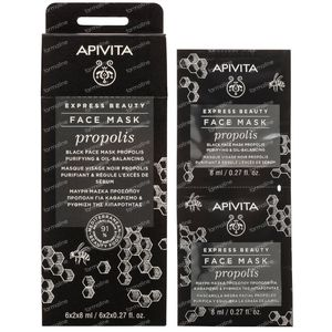 Apivita Express Beauty Gelaatsmasker Propolis 2x8 ml