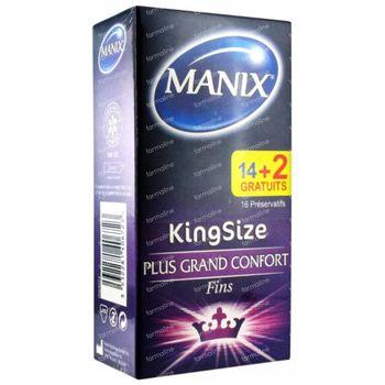 Manix KingSizeMax Maximum Comfort Préservatifs + 2 Préservatifs GRATUITS 14+2 pièces