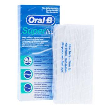 Oral B Super Floss Gewaxt Munt 50 m
