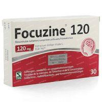 Focuzine 120mg 30  tabletten