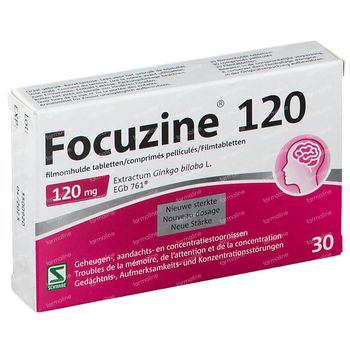 Focuzine 120mg 30 tabletten