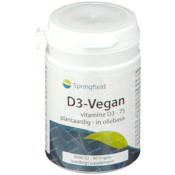 Springfield Vitamine D3-Vegan 3000iU 90 capsules