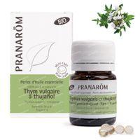 Pranarôm Aromaperles Thym Vulgaire à Thujanol Bio 60  perles