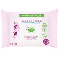 Saforelle Lingettes Intimes Format Poche Biodégradables 10 pièces