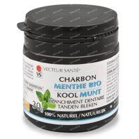Vecteur Santé Charcoal White Teeth wiht Mint 30 g
