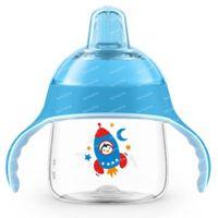 Avent Drinkbeker met Zachte Drinktuit Pinguin Blauw SCF746/02 200 ml