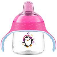 Avent Drinkbeker met Zachte Drinktuit Pinguin Roze SCF746/03 200 ml