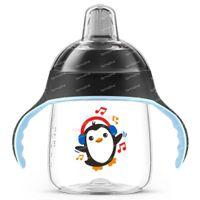 Avent Drinkbeker met Zachte Drinktuit Pinguin Zwart SCF747/01 260 ml