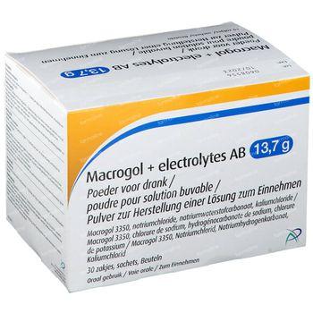 Macrogol+ Electrolytes AB 13,7g 30 zakjes