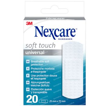 Nexcare Soft Touch Universal Pleisters 20 pleisters