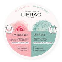 Lierac Hydragenist Hydraterend SOS-Masker + Sébologie Deep Cleansing Scrubmasker DUO 2x6 ml