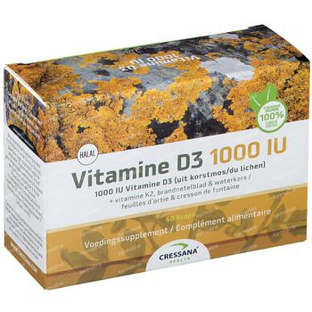 Cressana Vitamine D3 + K2 1000iu 60 capsules