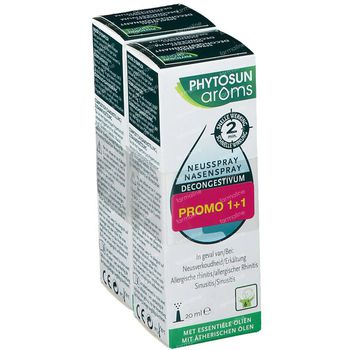 Phytosun Neusspray Decongestivum 1+1 GRATIS 2x20 ml