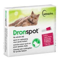 Dronspot® 96mg/24mg Spot-On Oplossing voor Grote Katten 1x1,2 ml