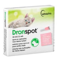 Dronspot® 30mg/7,5mg Spot-On Oplossing voor Kleine Katten 2x1 ml