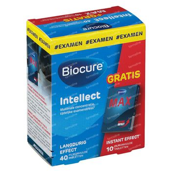 Biocure Intellect Concentration + Biocure Max 10 comprimées GRATUIT 40+10 comprimés