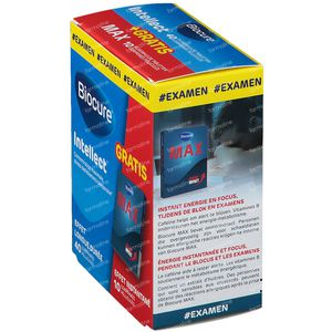 Biocure Intellect Student + Biocure Max 10 comprimées GRATUIT 40+10 comprimés