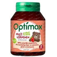 Optimax Kinder Multivitaminen Aardbei 90  kauwtabletten