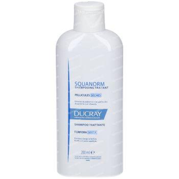 Ducray Squanorm Anti-Roos Shampoo Droge Schilfers Nieuwe Formule 200 ml