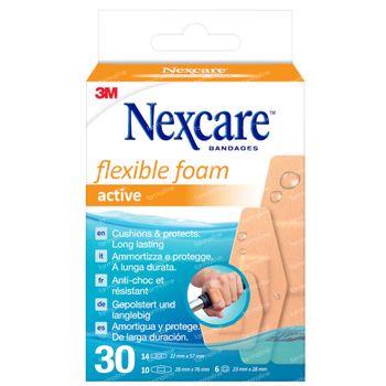 Nexcare Flexible Foam Active Pansements 30 pansements