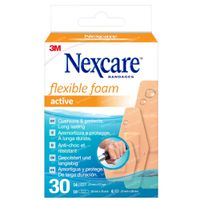 Nexcare Flexible Foam Active Patches Mix 30  pflaster