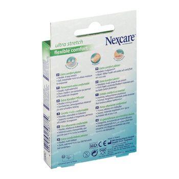 Nexcare Ultra Strech Comfort Flexibele Pleisters Band 10x6cm 10 stuks