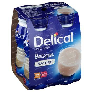 Delical Boisson Lactée HP-HC Nature 4x200 ml
