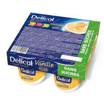 Delical Crème Dessert HP-HC Vanille Sans Sucre 4x125 g