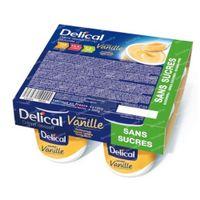 Delical Crème Dessert HP-HC Vanille Suikervrij 4x125 g