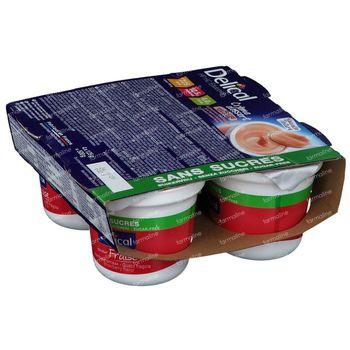 Delical Crème Dessert HP-HC Aardbei Suikervrij 4x125 g