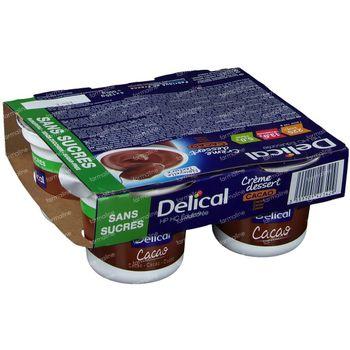 Delical Crème Dessert HP-HC Cacao Sans Sucre 4x125 g