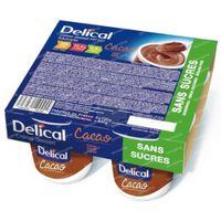 Delical Crème Dessert HP-HC Chocolade Suikervrij 4x125 g